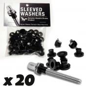 Sleeved Washers - Black (x20)