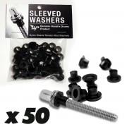 Sleeved Washers - Black (x50)