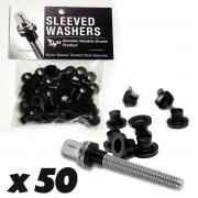 Sleeved Washers - Black (x50)