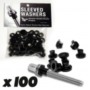 Sleeved Washers - Rondelles Noires (X100)