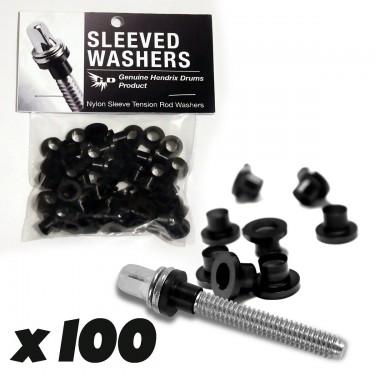 Sleeved Washers - Rondelles Noires (X100)