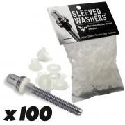 Sleeved Washers - White (x100)