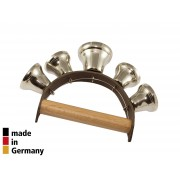 Leather Handle with 5 Open Bells - 3+