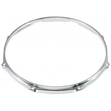 """H23-14-8S - 14"""" 8 Holes Snare Side 2.3mm Super Triple Flange Drum Hoop"""