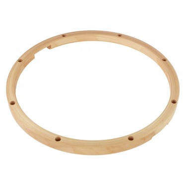 "HMY-14-8S - 14"" 8 Holes Snare Side Maple Drum Hoop"