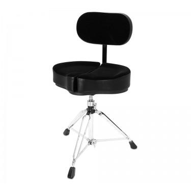 SPG-BBR Drum Throne Spinal-G Back Rest Black - 3 Leg Base