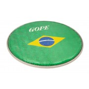 """HHOL10-BR - 10"""" Double Holographic Head - Flag Brazil"""