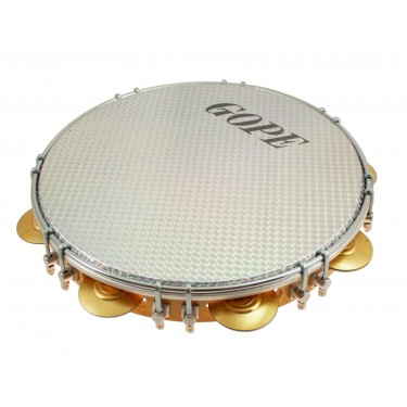 """PA11D8HOL-WH - 11"""" Pandeiro Double Lugs White Holographic Head"""