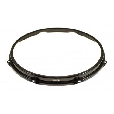 """SH138B-BLK Hoop 13"""" 8 Holes Resonant Snare Drum - Black"""