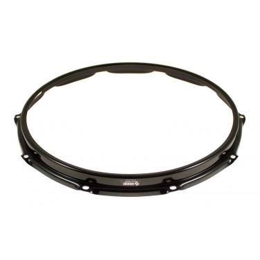 """SH1410B-BLK Hoop 14"""" 10 Holes Resonant Snare Drum - Black"""