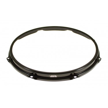 """SH148B-BLK Hoop 14"""" 8 Holes Resonant Snare Drum - Black"""
