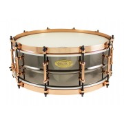 "BK-5014SFXG - Black Dawg Aztec Gold Vintage 14"" x 5"" Snare Drum - Brass Shell"