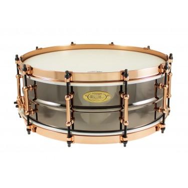 "BK-5014SFXG - Black Dawg Aztec Gold Vintage 14"" x 5"" Snare Drum - Brass Shell"