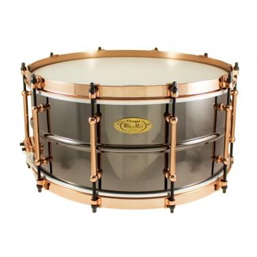 "BK-6514SFXG - Black Dawg Aztec Gold Vintage 14"" x 6.5"" Snare Drum - Brass Shell"