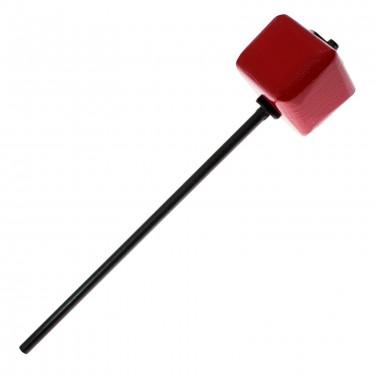 208A - BD Beater - J.R. Robinson - Red Square Hard Wood - Long Shaft Black