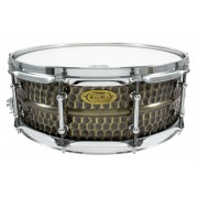 "BKH-5014SH - Black Dawg 14"" x 5"" Snare Drum - Hammered Brass Shell"