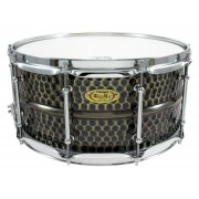 "BKH-6514SH - Black Dawg 14"" x 6.5"" Snare Drum - Hammered Brass Shell"