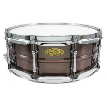 """BKR-5014SH - Black Dawg 14"""" x 5"""" Snare Drum - Brushed Red Copper Brass Shell"""