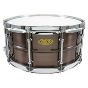 "BKR-6514SH - Black Dawg 14"" x 6.5"" Snare Drum - Brushed Red Copper Brass Shell"