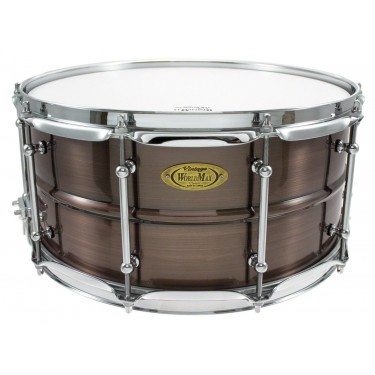 """BKR-6514SH - Black Dawg 14"""" x 6.5"""" Snare Drum - Brushed Red Copper Brass Shell"""