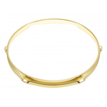 "H23-12-6BR - 12"" 6 Holes Brass 2.3mm Super Triple Flange Drum Hoop"