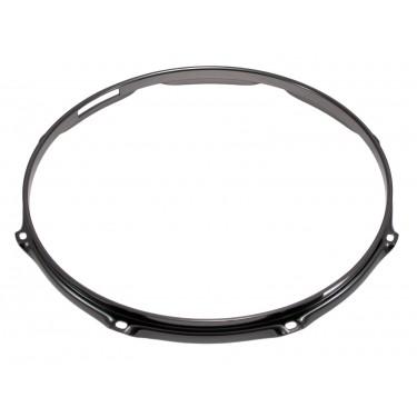 """H23-12-8SBK - 12"""" 8 Holes Snare Side Black 2.3mm Super Triple Flange Drum Hoop"""