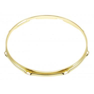 """H23-12-8SBR - 12"""" 8 Holes Snare Side Brass 2.3mm Super Triple Flange Drum Hoop"""