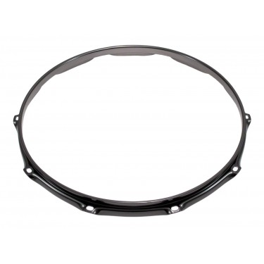 "H23-14-10BK - 14"" 10 Holes Black 2.3mm Super Triple Flange Drum Hoop"