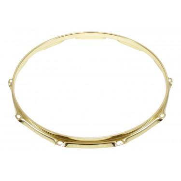 "H23-14-10BR - 14"" 10 Holes Brass 2.3mm Super Triple Flange Drum Hoop"