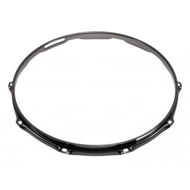"""H23-14-10SBK - 14"""" 10 Holes Snare Side Black 2.3mm Super Triple Flange Drum Hoop"""