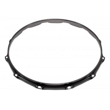"""H23-14-12BK - 14"""" 12 Holes Black 2.3mm Super Triple Flange Drum Hoop"""