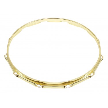 "H23-14-12BR - 14"" 12 Holes Brass 2.3mm Super Triple Flange Drum Hoop"