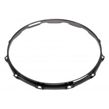 """H23-14-12SBK - 14"""" 12 Holes Snare Side Black 2.3mm Super Triple Flange Drum Hoop"""