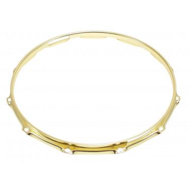 """H23-14-12SBR - 14"""" 12 Holes Snare Side Brass 2.3mm Super Triple Flange Drum Hoop"""