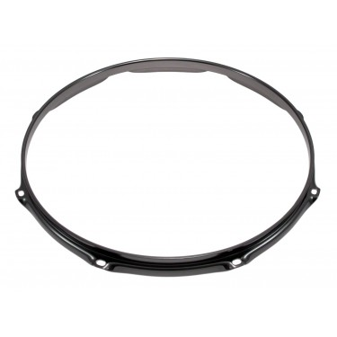 """H23-14-8BK - 14"""" 8 Holes Black 2.3mm Super Triple Flange Drum Hoop"""