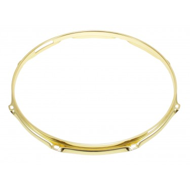 "H23-14-8SBR - 14"" 8 Holes Snare Side Brass 2.3mm Super Triple Flange Drum Hoop"