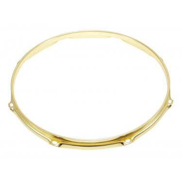 "H23-15-8BR - 15"" 8 Holes Brass 2.3mm Super Triple Flange Drum Hoop"