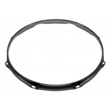 """H23-16-8BK - 16"""" 8 Holes Black 2.3mm Super Triple Flange Drum Hoop"""