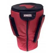 36cm x 67cm Djembe Heavy Duty Protection Bag - Red