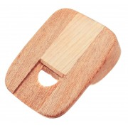 Nose Flute - White Wood