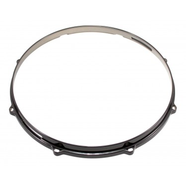 """HDC3-13-8SBK - 13"""" 8 Holes Snare Side Black 3mm Die Cast Drum Hoop"""