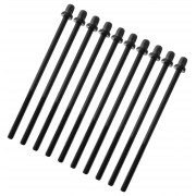 "TRC-110W-BK - 110mm Tension Rod Black with washer - 7/32"" Thread (x10)"