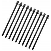 """TRC-115W-BK - 115mm Tension Rod Black with washer - 7/32"""" Thread (x10)"""