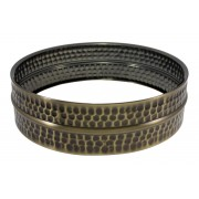 """SBHB1404 - 14"""" x 4"""" Black Plated Hammered Brass Beaded Shell - Snare Drum"""