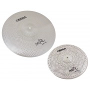 "Mute 2x Silent Cymbals Set - 14"" 20"""