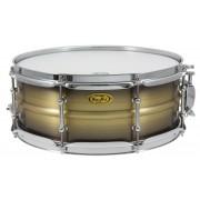 "BKA-5514SH - Black Dawg 14"" x 5.5"" Snare Drum - Antique Brush Brass Shell"