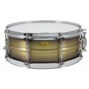 "BKA-5514SH - Black Dawg 14"" x 5.5"" Snare Drum - Antique Brush Brass Shell"