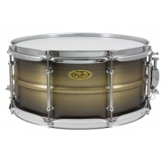 "BKA-6514SH - Black Dawg 14"" x 6.5"" Snare Drum - Antique Brush Brass Shell"