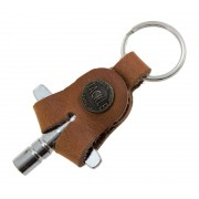 Leather Drum Key - Saddle Tan