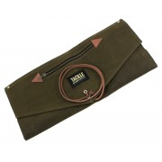 Waxed Canvas Roll Up Stick Case - Forest Green